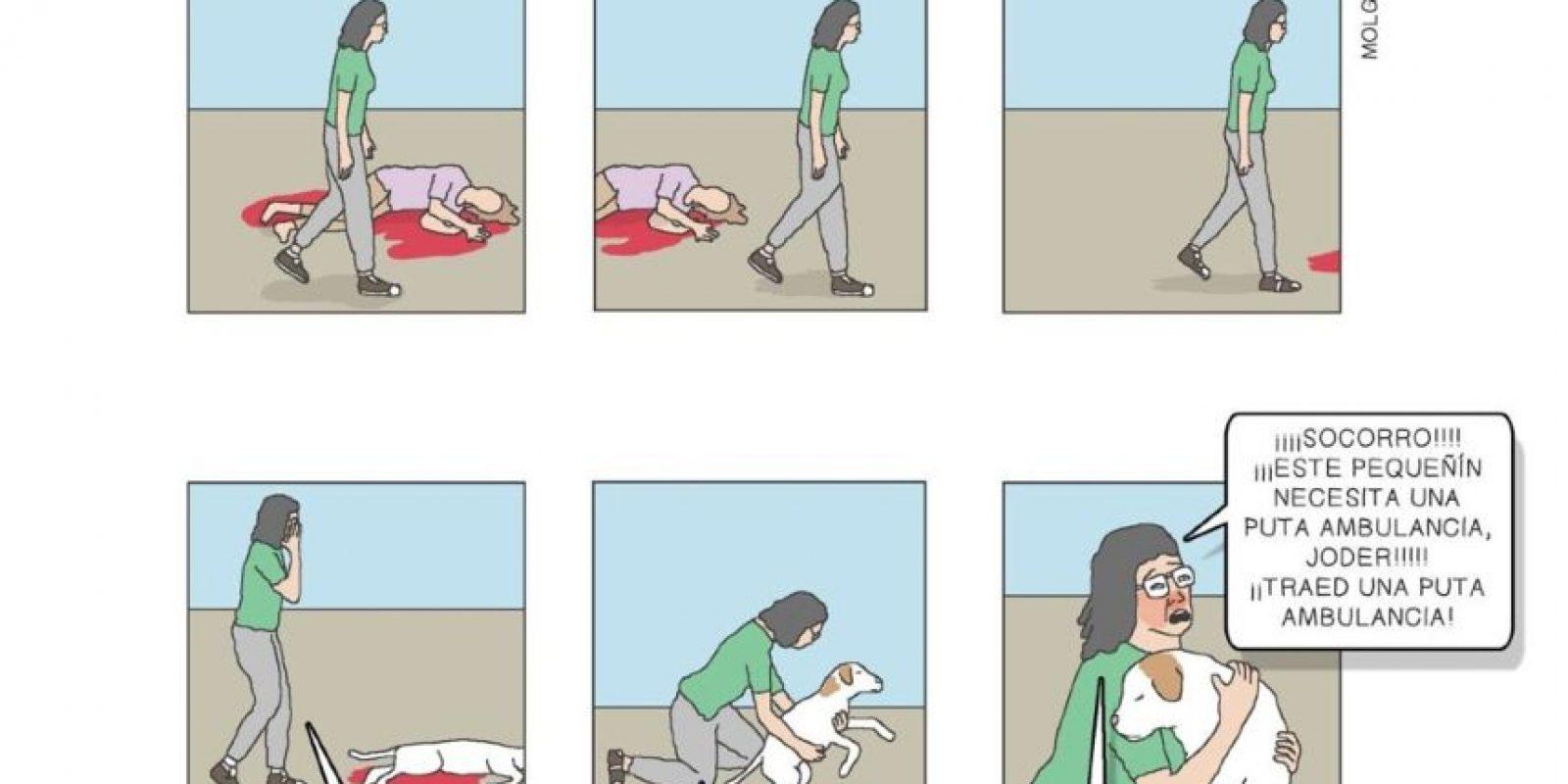 Molg H. es barcelonés, tiene 32 años y ha impactado a los internautas con sus cómics escatológicos y de humor negro. Foto:Molg H./Facebook