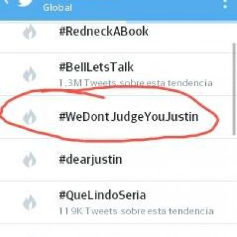 Hashtag que en unas horas se convirtió en tendencia mundial. Foto:Twitter