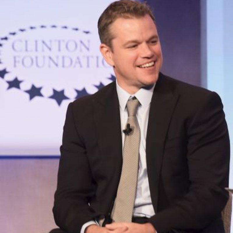 Matt Damon también es seguidor de los Pats Foto:Getty