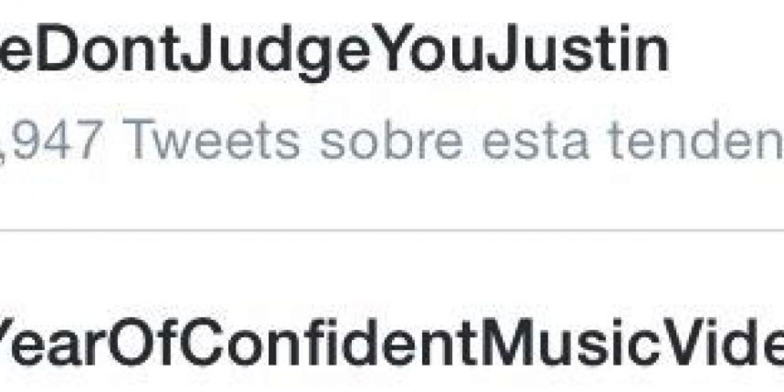 """Después de Justin presentara sus disculpas, las fans crearon el hashtag """"#wedontjudgeyoujustin"""" (Nosotros no te juzgamos Justin) Foto:Twitter"""