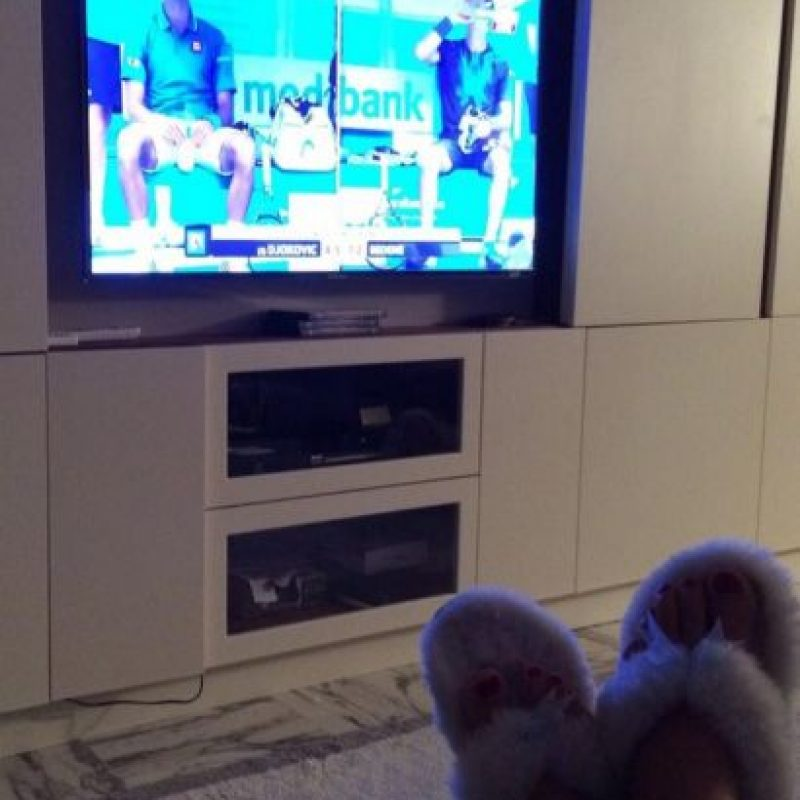 Así se disfruta el Australian Open. Foto:twitter.com/JelenaRisticNDF