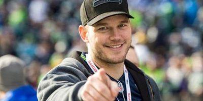 El actor luce prendas de los actuales campeones de la NFL Foto:Getty