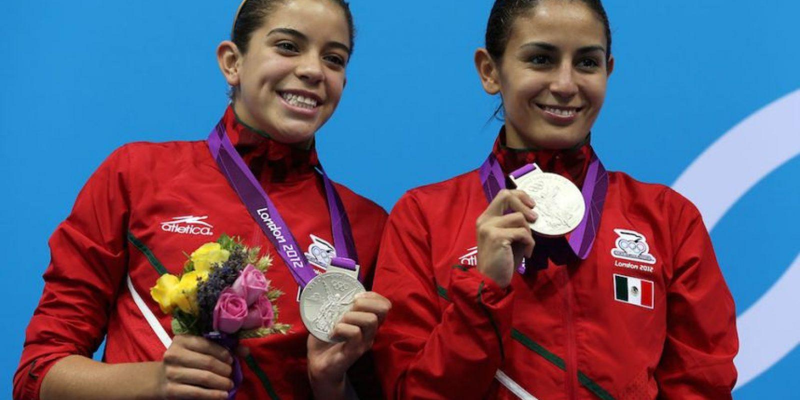 Paola Espinosa (derecha) – México. Medalla de plata en Beijing 2008 y de bronce en Londres 2012 en clavados sincronizados desde la plataforma de 10 metros. Foto:Getty Images