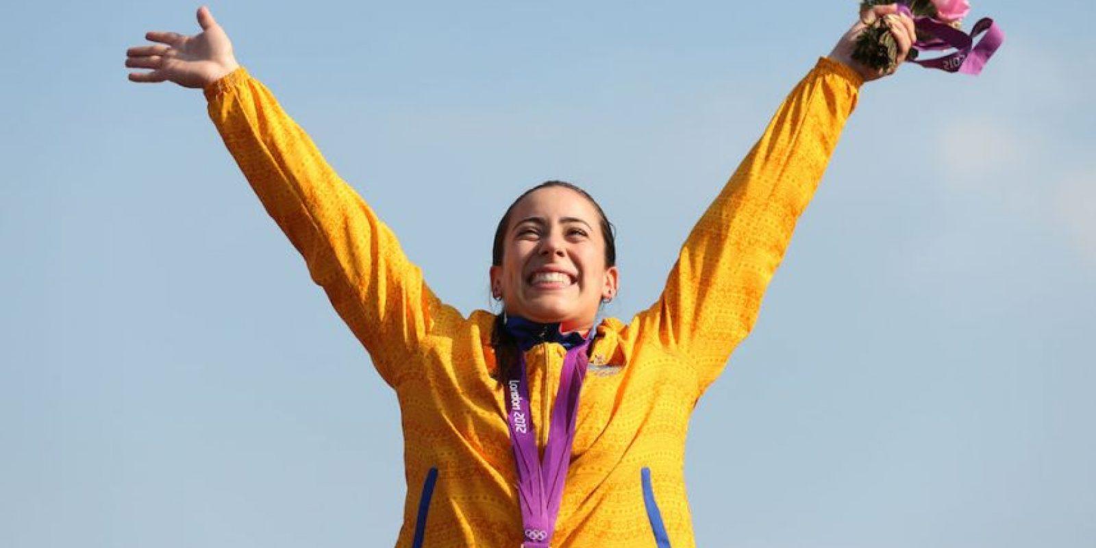 Mariana Pajón – Colombia. Medalla de oro ciclismo femenino BMX en Londres 2012. Foto:Getty Images