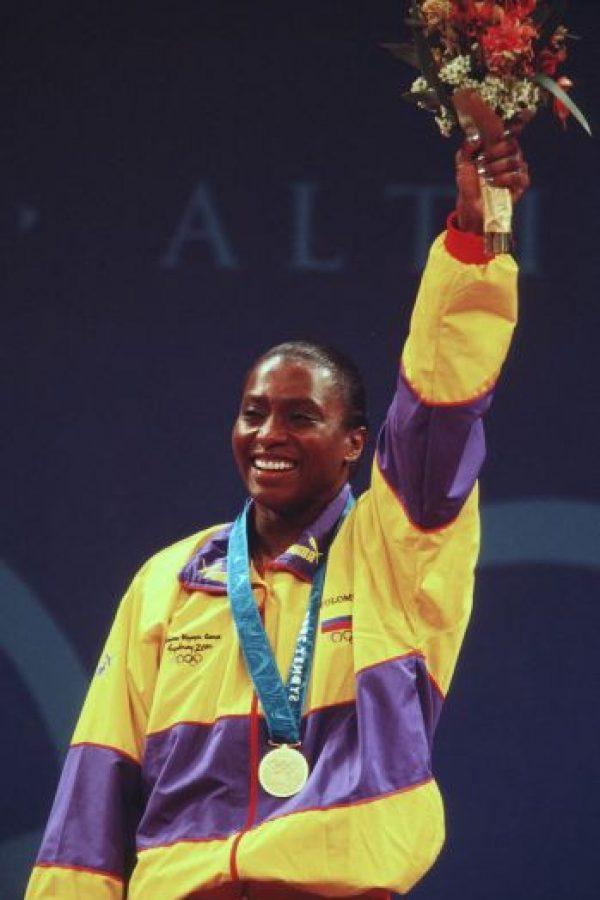 María Isabel Urrutia – Colombia. Medalla oro en halterofilia en Sidney 2000. Foto:Getty Images
