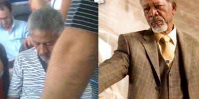 Otro Morgan Freeman Foto:Parecidos De Bondis/Facebook