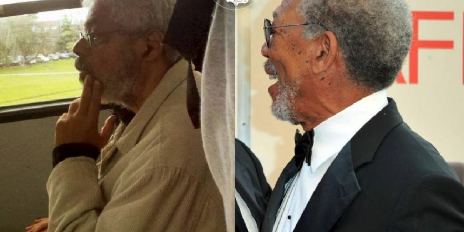 Morgan Freeman Foto: Parecidos De Bondis/Facebook