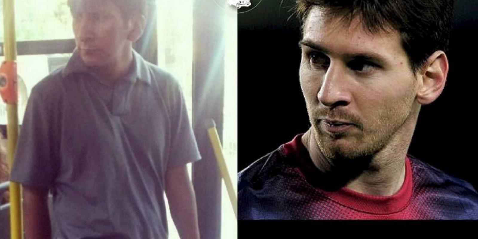 Messi, otra vez Foto:Parecidos De Bondis/Facebook