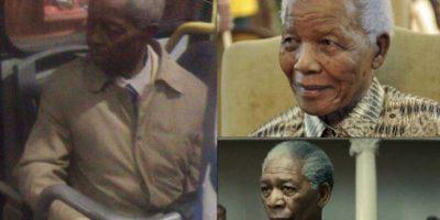 Mandela /Morgan Freeman Foto:Parecidos De Bondis/Facebook