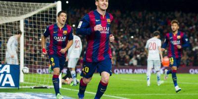 Messi y el Barça son segundos en la Liga de España, detrás del Real Madrid Foto:Getty