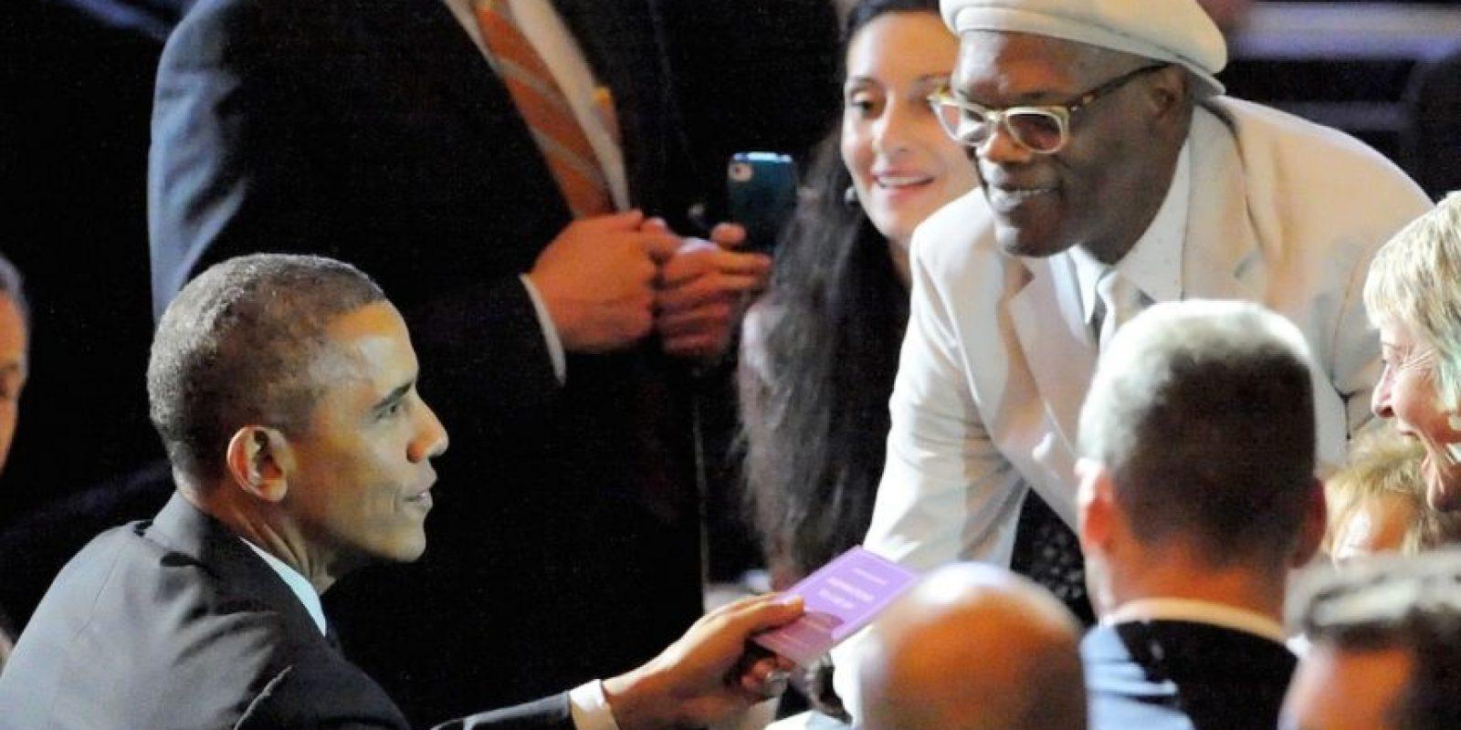 Con Samuel L Jackson Foto:Getty Images