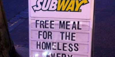 Subway alimenta a los mendigos. Foto:Tumblr