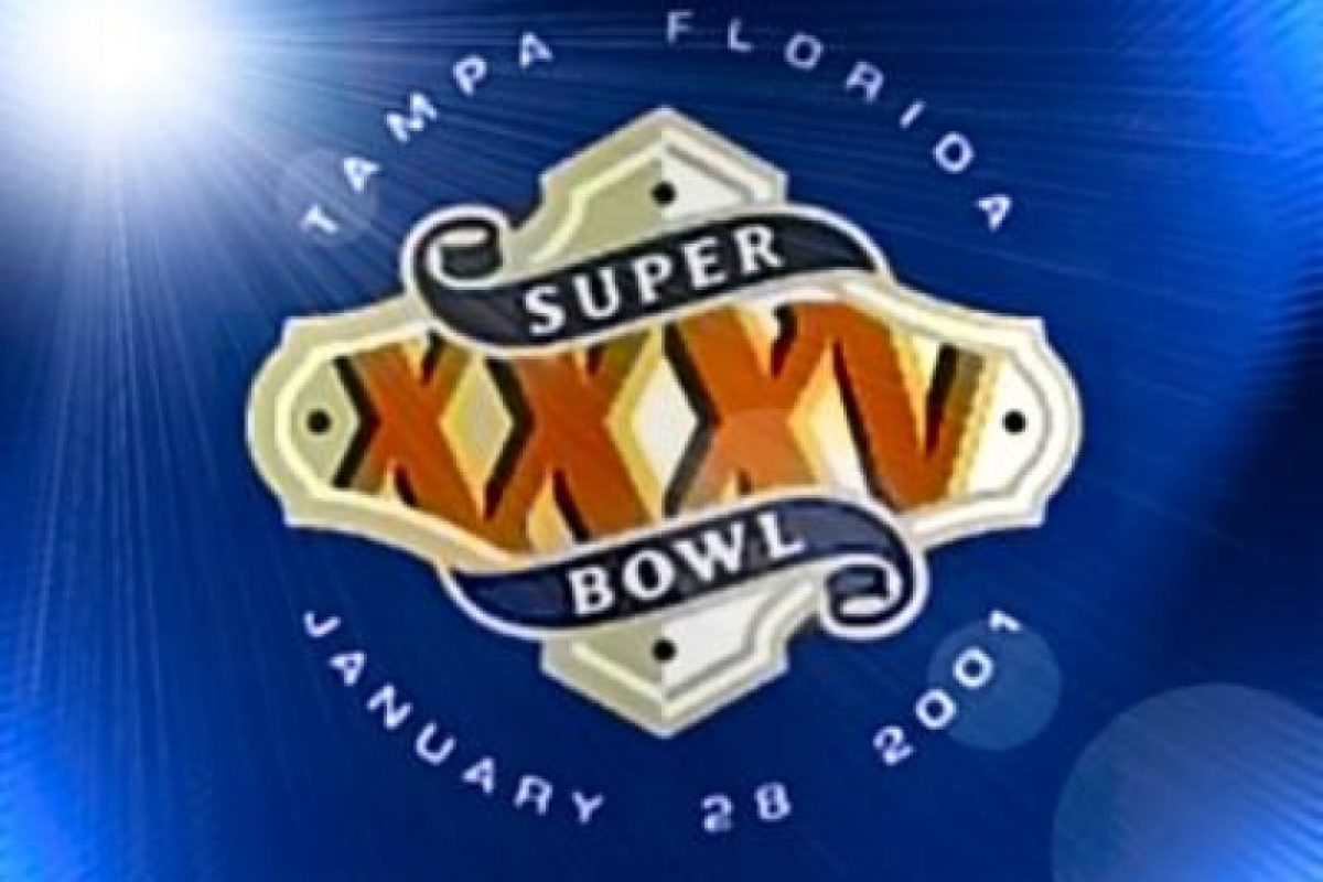 Super Bowl XXXV Foto:Twitter