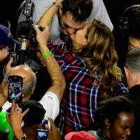 La pareja más famosa del Super Bowl XLIX. Foto:Getty Images