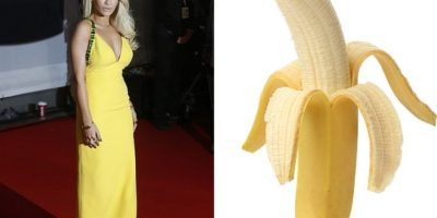 Rita Ora, todo un banano. Foto:Twitter