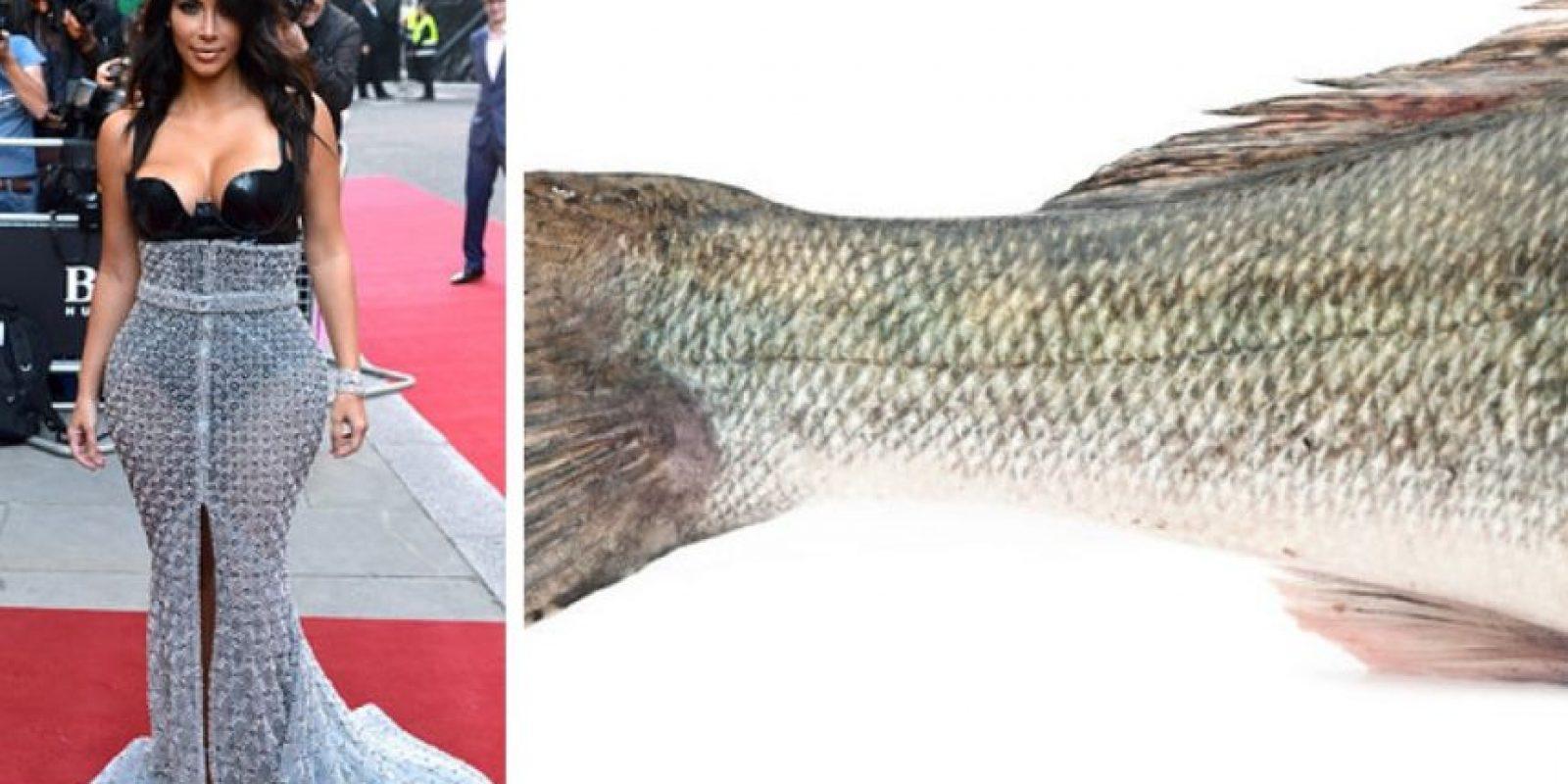 Kim parecía un pescado Foto:Twitter