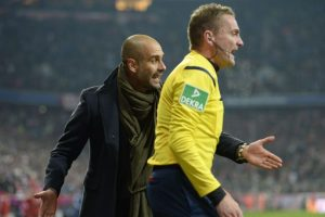 El técnico catalán no pudo ocultar su alegría por el empate de su equipo contra el Schalke. Foto:AFP