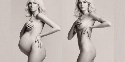 FOTOS. Modelo genera polémica por foto post embarazo