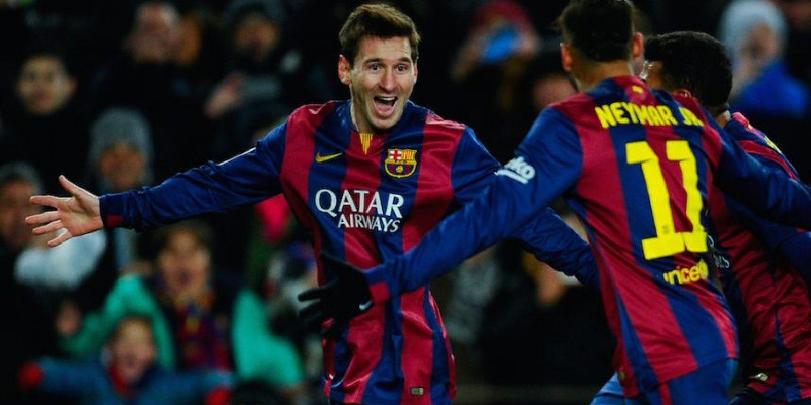 Messi anotó al minuto 56 de tiempo corrido. Foto:Getty Images