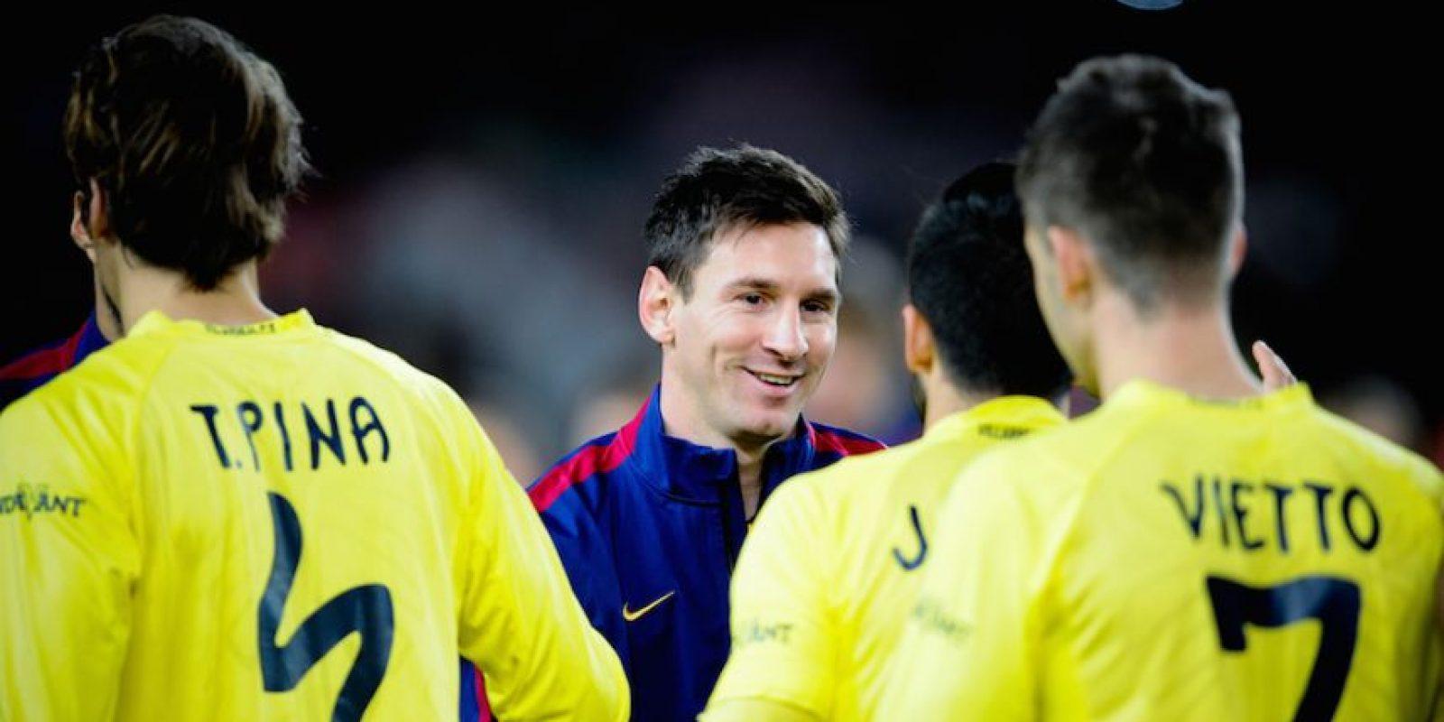 El argentino se mostró sonriente antes de iniciar el partido. Foto:Getty Images
