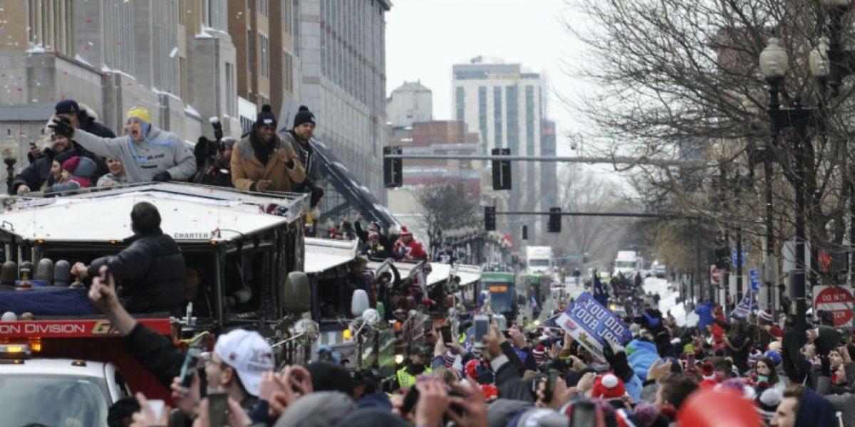 Festejo de locura en Boston