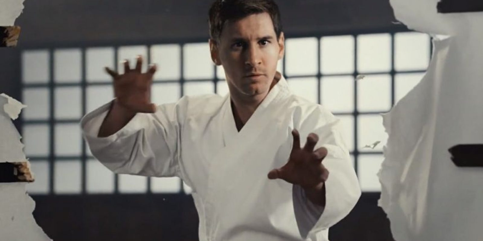 Leo Messi como karateka. Foto: Barcelona / Qatar Airways