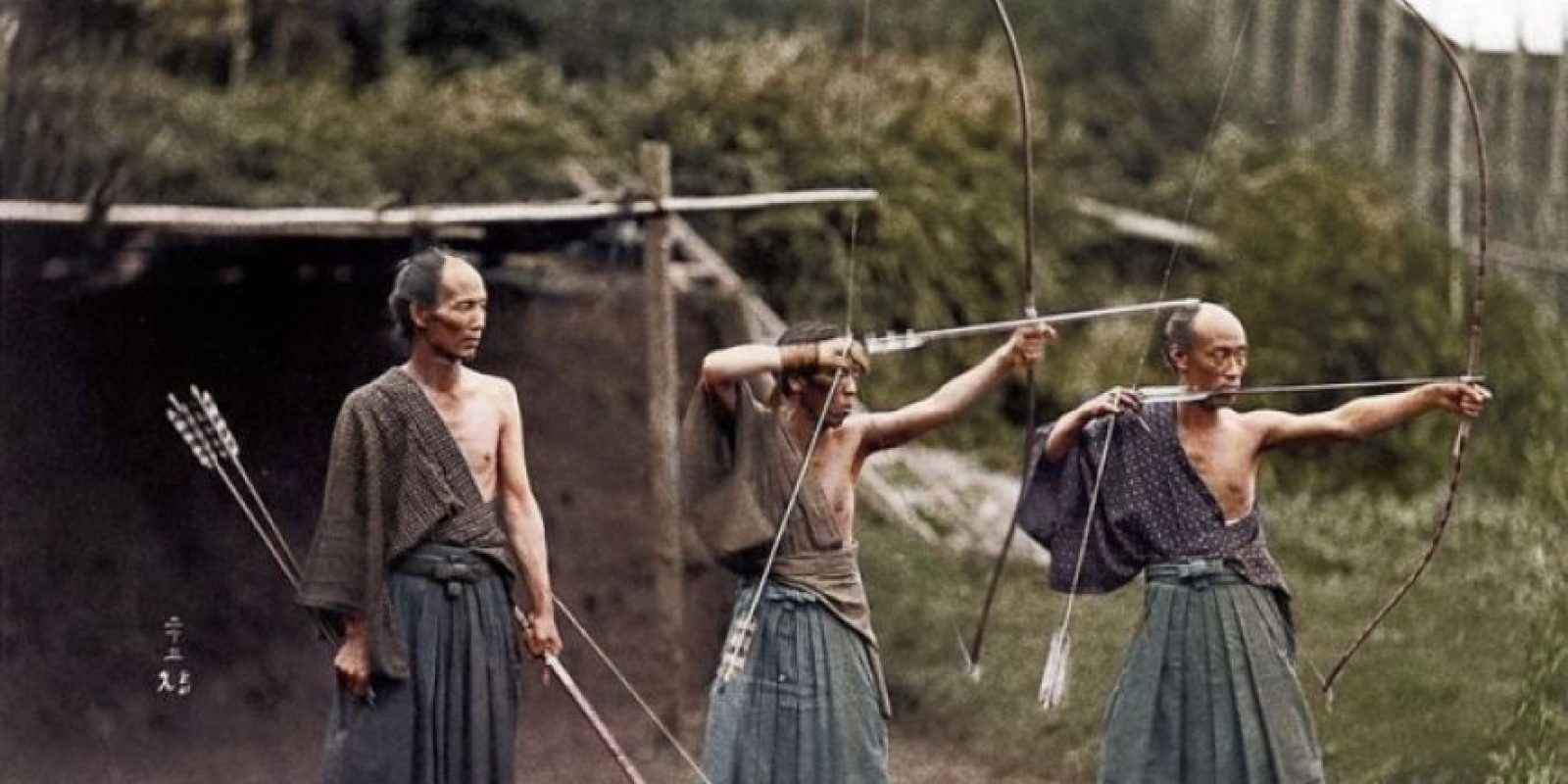 Samuráis entrenando, 1860.