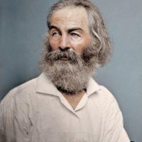 El poeta Walt Whitman, 1868.