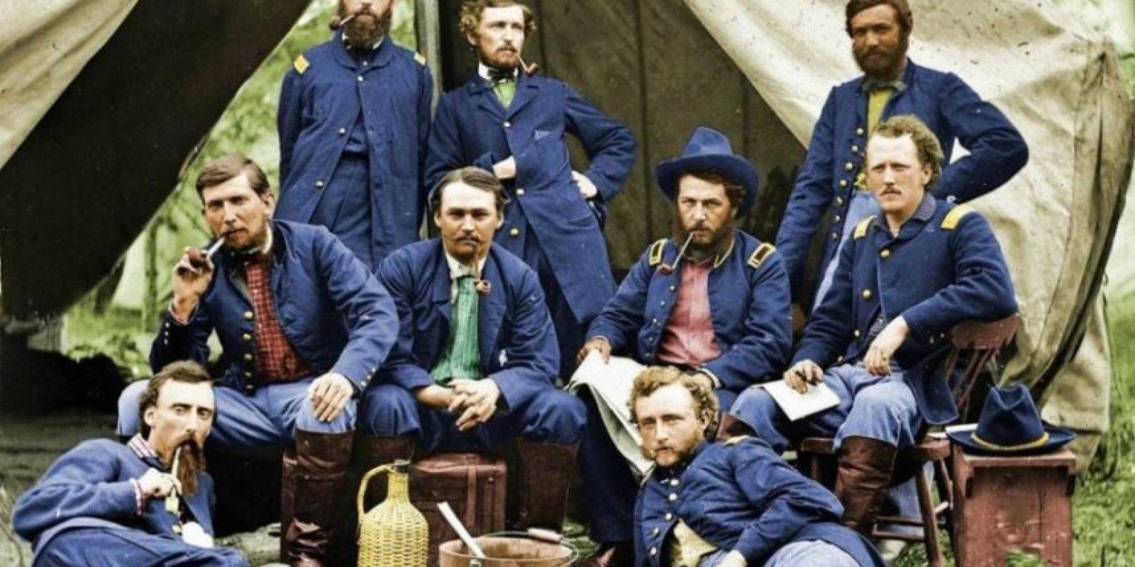 Soldados unionistas en 1863.