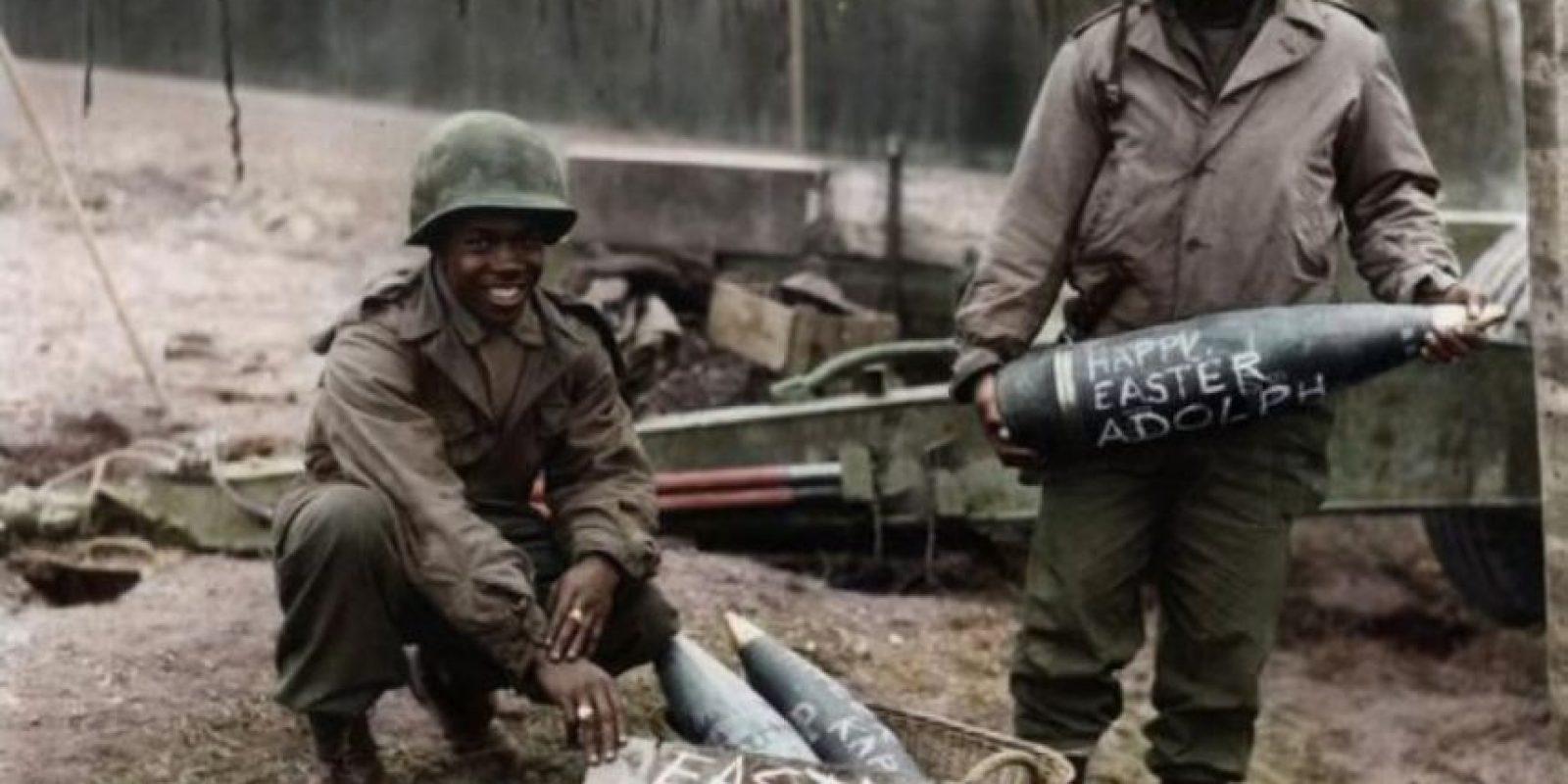Soldados durante la segunda guerra mundial.