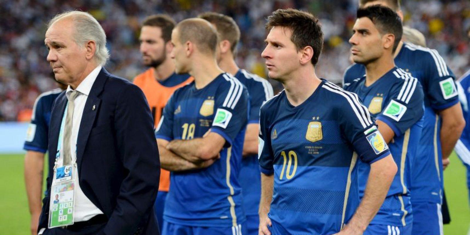 """Así sufrió la """"Pulga"""" la derrota de la Selección de Argentina en la final del Mundial Foto:Getty"""