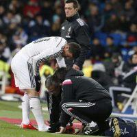 El colombiano marcó el primer gol del triunfo del Madrid contra el Sevilla pero luego salió lesionado. Foto:EFE