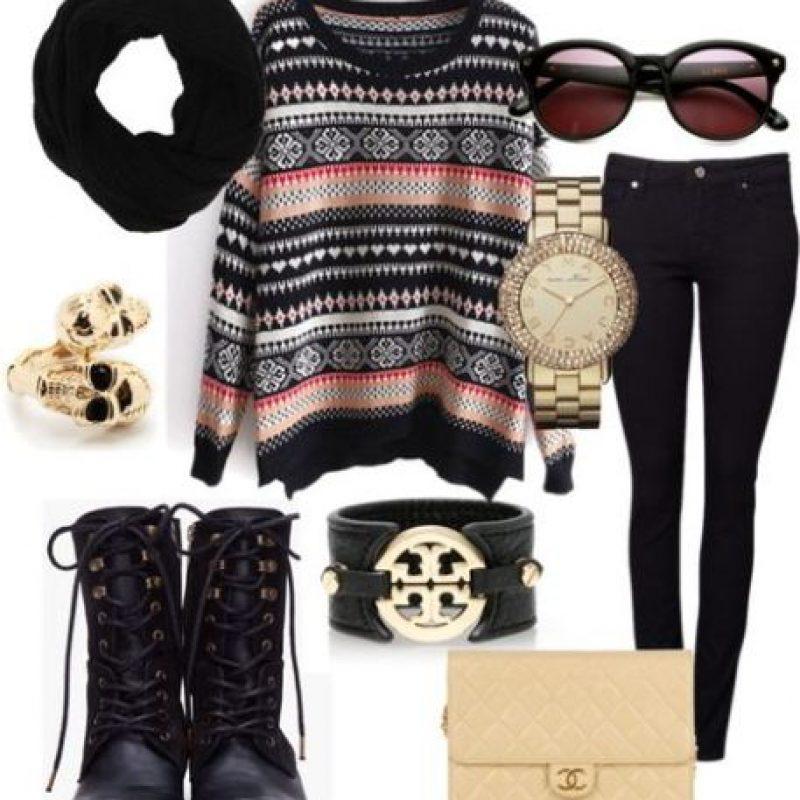En el caso de las mujeres, suéteres, pantalones pitillo. Camisetas de estampación digital y logos cool. Foto:Pinterest