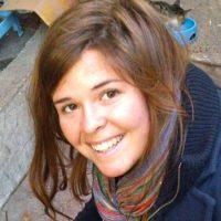 Kayla Jean Mueller, trabajadora humanitaria que aparentemente murió por los ataques aéreos de Jordania. Foto:AFP