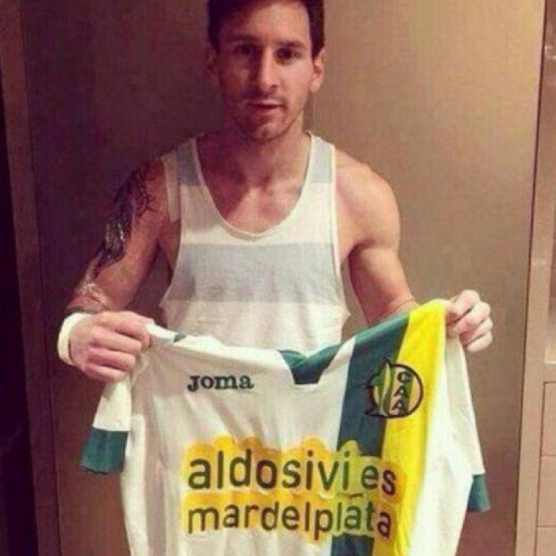 Este sería el nuevo tatujae de Lionel Messi. Foto:Twitter