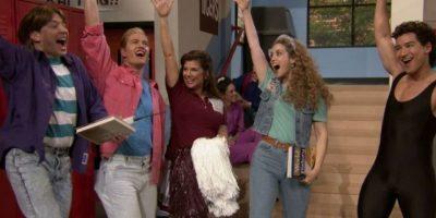 4 de febrero: Parte del elenco de Salvados por la Campana se reúne en el programa de Jimmy Fallon Foto:The Tonight Show Starring Jimmy Fallon
