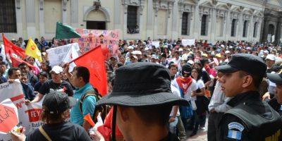 FOTOS. La protesta de los establecimientos Fe y Alegría