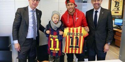 Neymar y su pequeño hijo se convierten en socios del Barcelona