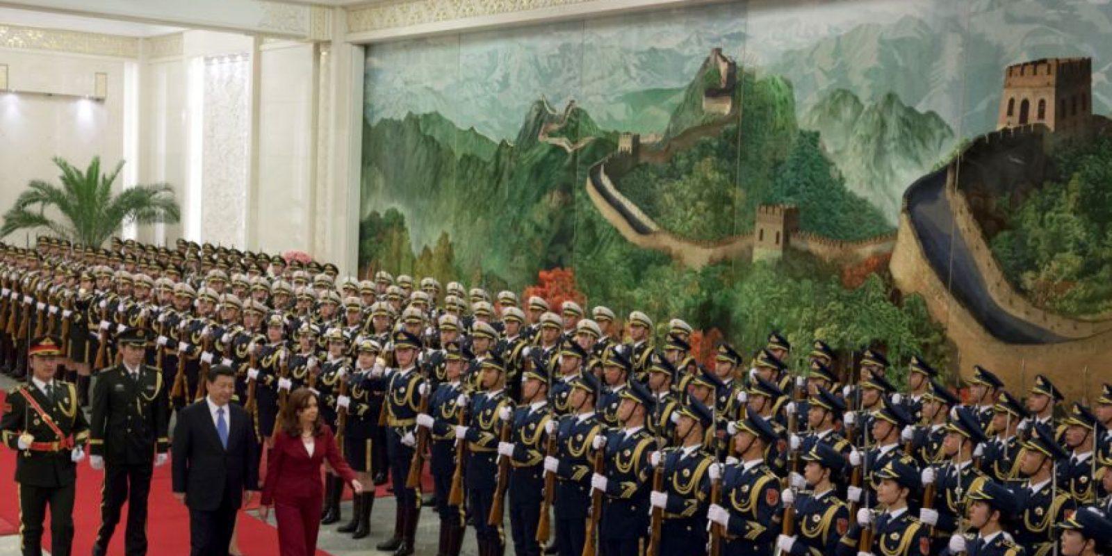El objetivo fue estrechar los lazos comerciales entre Argentina y el país asiático. Foto:AP