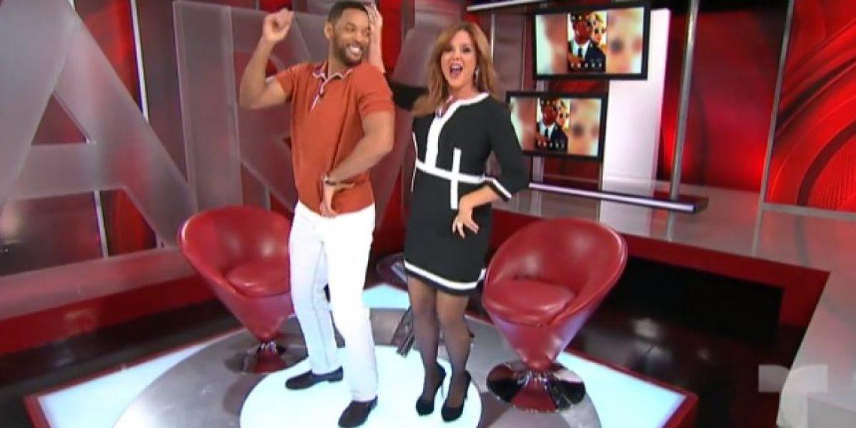 VIDEO: Will Smith pone a bailar a María Celeste Arrarás