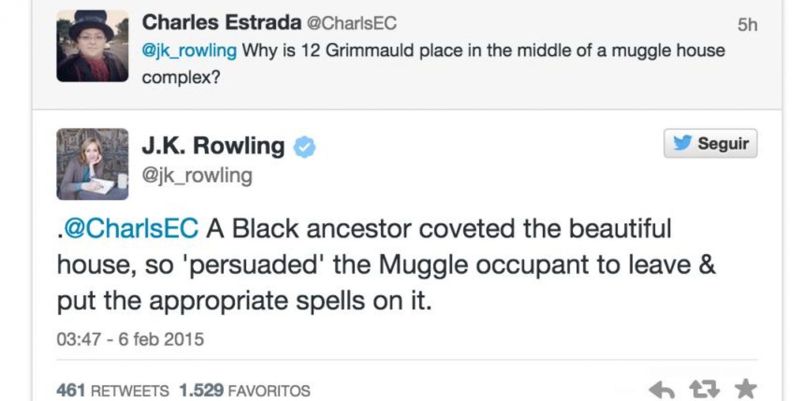 """¿Por qué los Black viven en un barrio para """"muggles""""? Foto:Twitter"""