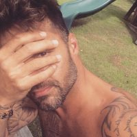 También cuando tiene reacciones espontáneas. Foto:Instagram/Ricky Martin