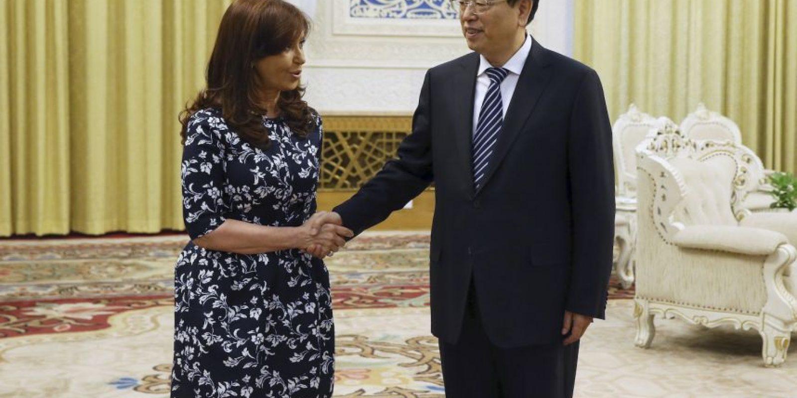 Cristina Fernández recientemente realizó una gira de trabajo por China. Foto:AP