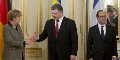 Poroshenko los recibió en Kiev. Foto:AP