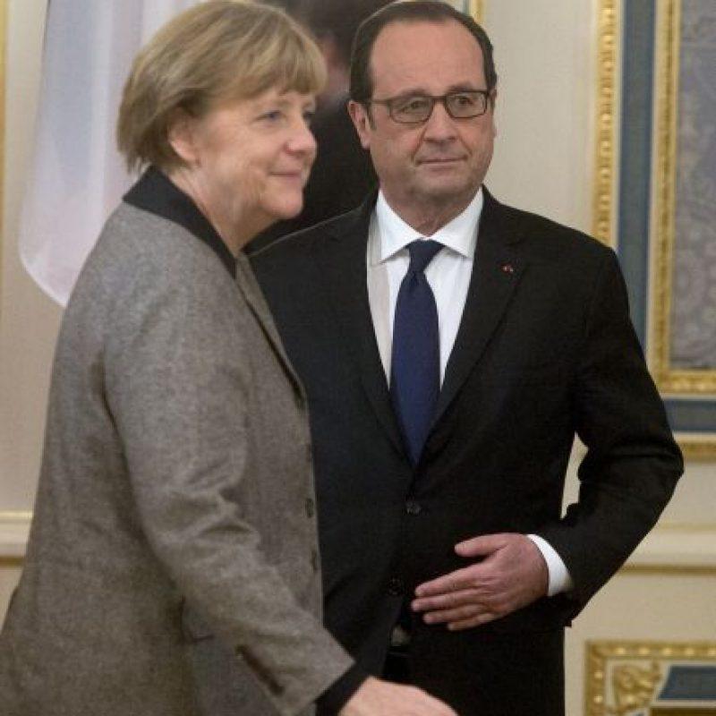 Francia y Alemania buscan la paz en Ucrania. Foto:AP