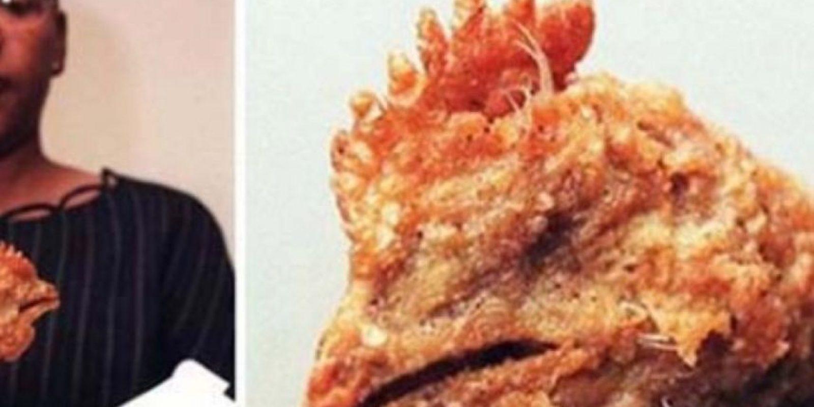 El pollo. Literal. Foto:Twitter