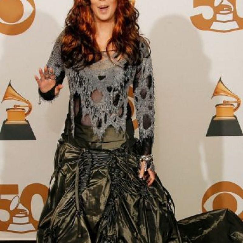 """Cher se disfrazó de zombie en 2008 antes de que """"The Walking Dead"""" lo hiciera mainstream. Foto:Getty Images"""