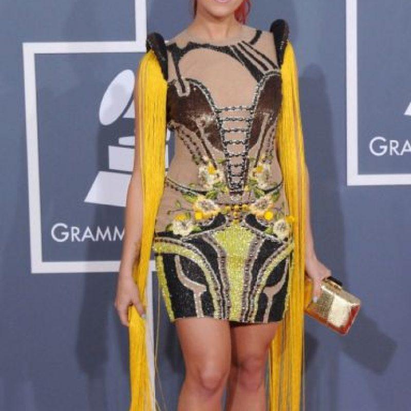 """Bonnie Mc Kee en 2012 con un look que ni en """"El Quinto Elemento"""" se hubiesen puesto ni muertos. Foto:Getty Images"""