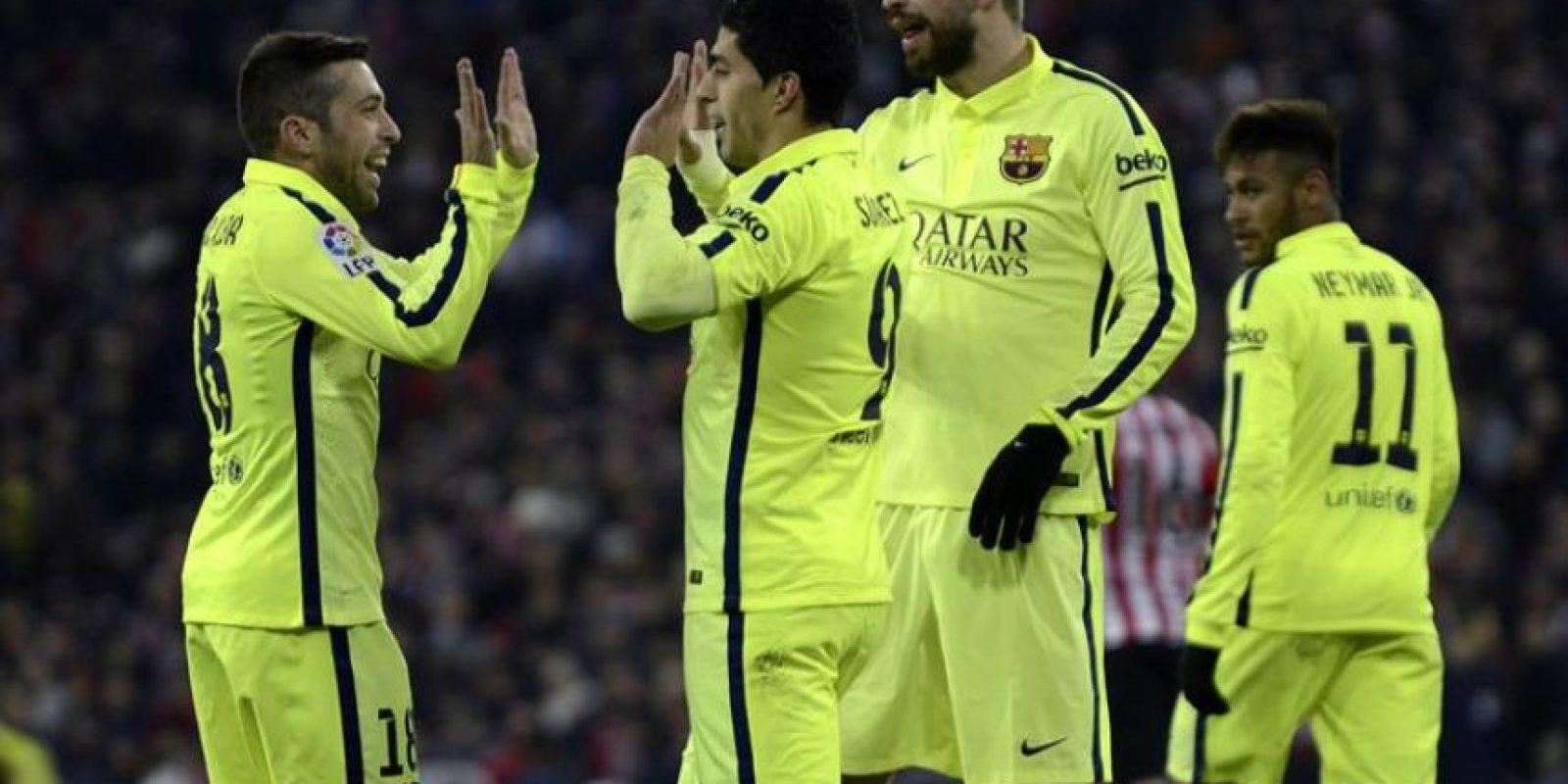El Barça no tuvo problemas para vencer a domicilio al cuadro vasco. Foto:AFP
