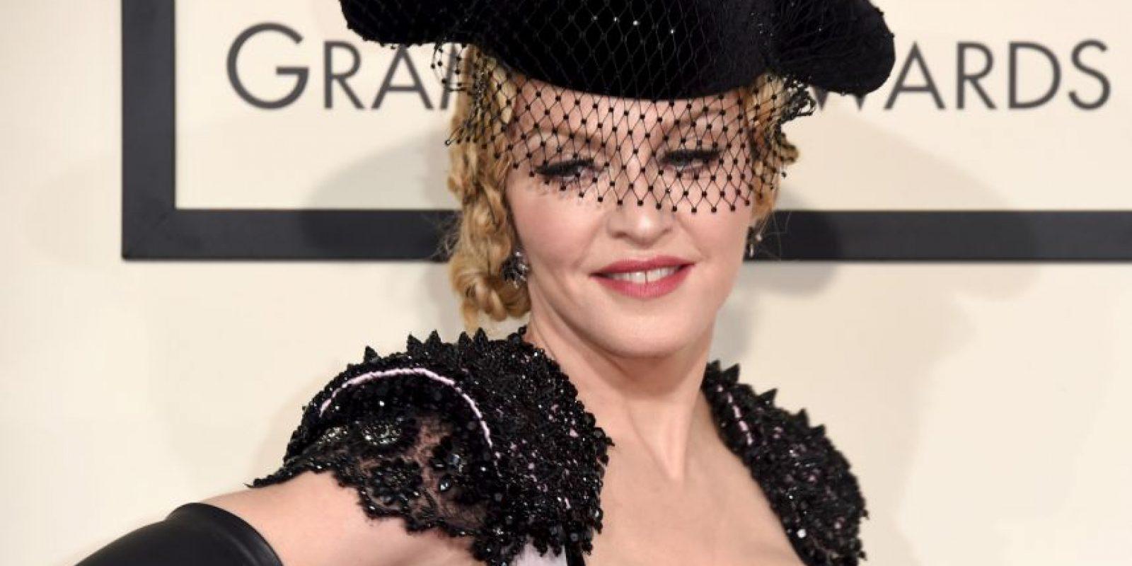 """La """"Reina del pop"""" acaparó las cámaras en su llegada a la ceremonia Foto:Getty Images"""